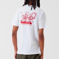 画像7: Carhartt WIP (カーハート ワークインプログレス) S/S Bene Tee White / Red 半袖 Tシャツ (7)