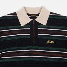 画像5: Butter Goods(バターグッズ)Schmidt Zip Polo S/S Shirt ボーダー ジップ ポロ シャツ  (5)
