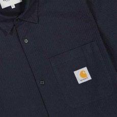 画像4: Carhartt WIP (カーハート ワークインプログレス) S/S Southfield Shirt Dark Navy シアサッカー 半袖 シャツ 4.1oz (4)