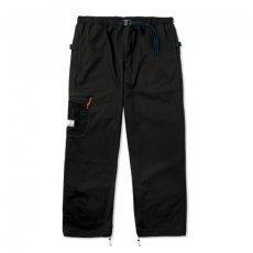 画像1: Field Pants Solid Black ナイロン パンツ ブラック (1)