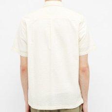 画像3: Carhartt WIP (カーハート ワークインプログレス) S/S Southfield Shirt Wax White Natural シアサッカー 半袖 シャツ 4.1oz (3)