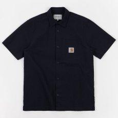 画像2: Southfield S/S Shirt Dark Navy シアサッカー 半袖 シャツ 4.1oz (2)