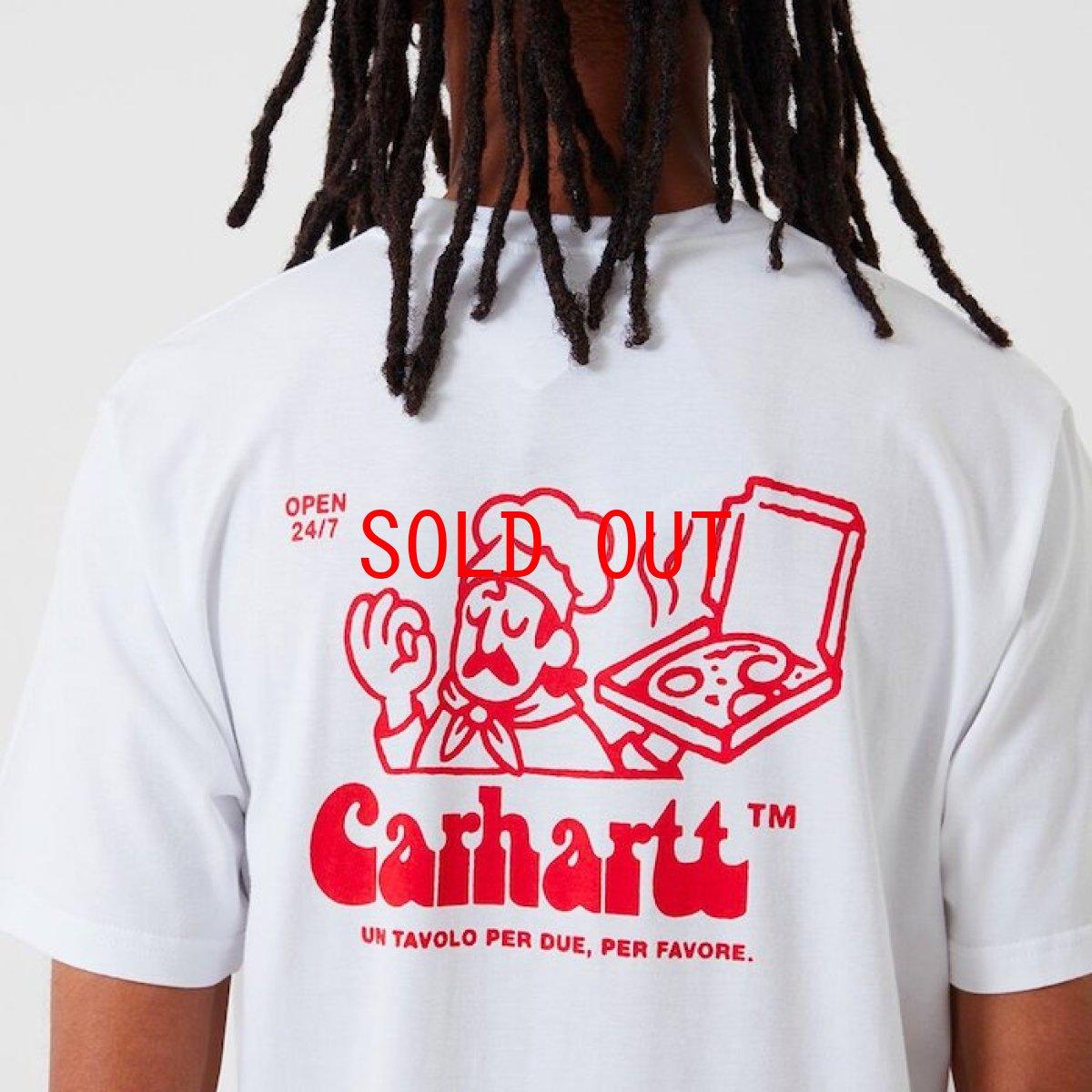 画像1: Carhartt WIP (カーハート ワークインプログレス) S/S Bene Tee White / Red 半袖 Tシャツ (1)
