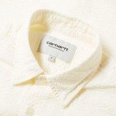 画像4: Carhartt WIP (カーハート ワークインプログレス) S/S Southfield Shirt Wax White Natural シアサッカー 半袖 シャツ 4.1oz (4)