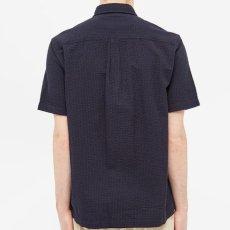 画像5: Carhartt WIP (カーハート ワークインプログレス) S/S Southfield Shirt Dark Navy シアサッカー 半袖 シャツ 4.1oz (5)