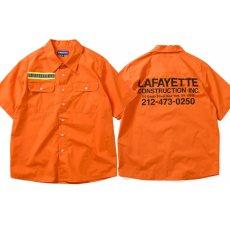 画像1: High Vis Box Logo S/S Work Shirt 半袖 シャツ Orange オレンジ (1)