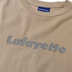 画像5: Lafayette(ラファイエット) Check Logo L/S Tee Sand Beige サンド ベージュ チェック ロゴ 長袖 Tシャツ  (5)