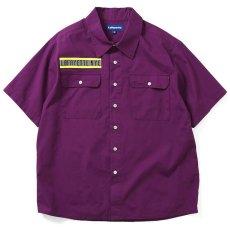画像2: High Vis Box Logo S/S Work Shirt 半袖 シャツ Purple パープル (2)