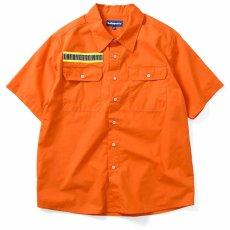 画像2: High Vis Box Logo S/S Work Shirt 半袖 シャツ Orange オレンジ (2)