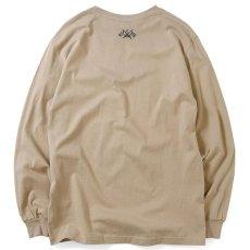 画像2: Lafayette(ラファイエット) Check Logo L/S Tee Sand Beige サンド ベージュ チェック ロゴ 長袖 Tシャツ  (2)