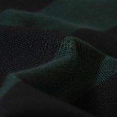 画像4: Lafayette(ラファイエット) LF Logo Striped Rugby Shirt ストライプ ボーダー ラガーシャツ ラグビー シャツ Green Black (4)
