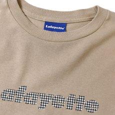 画像4: Lafayette(ラファイエット) Check Logo L/S Tee Sand Beige サンド ベージュ チェック ロゴ 長袖 Tシャツ  (4)