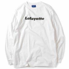 画像2: Lafayette(ラファイエット) Check Logo L/S Tee White ホワイト チェック ロゴ 長袖 Tシャツ  (2)