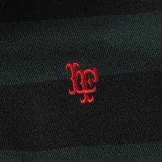 画像6: Lafayette(ラファイエット) LF Logo Striped Rugby Shirt ストライプ ボーダー ラガーシャツ ラグビー シャツ Green Black (6)