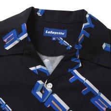 画像3: 90s Polygon Logo Open Collar S/S Shirt 半袖 シャツ Black ブラック (3)