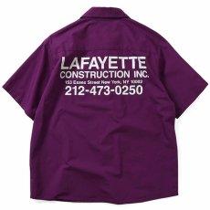 画像3: High Vis Box Logo S/S Work Shirt 半袖 シャツ Purple パープル (3)
