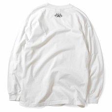 画像3: Lafayette(ラファイエット) Check Logo L/S Tee White ホワイト チェック ロゴ 長袖 Tシャツ  (3)