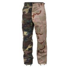 画像1: Two Tone Camo BDU Cargo Pants カーゴパンツ Woodland Desert 2Tone ツートーン (1)