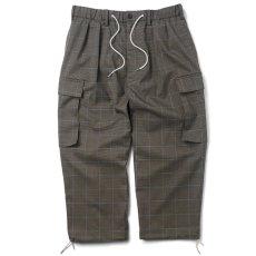 画像1: Plaid Comfy Cargo Pants カーゴ パンツ Check チェック (1)