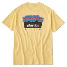 画像2: Plastic S/S Tee プラスティック Tシャツ White Pale Yellow (2)