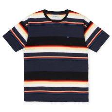 画像2: Carhartt WIP (カーハート ワークインプログレス) S/S Sunder Tee Sunder Stripe Blue 半袖 ボーダー Tシャツ  (2)