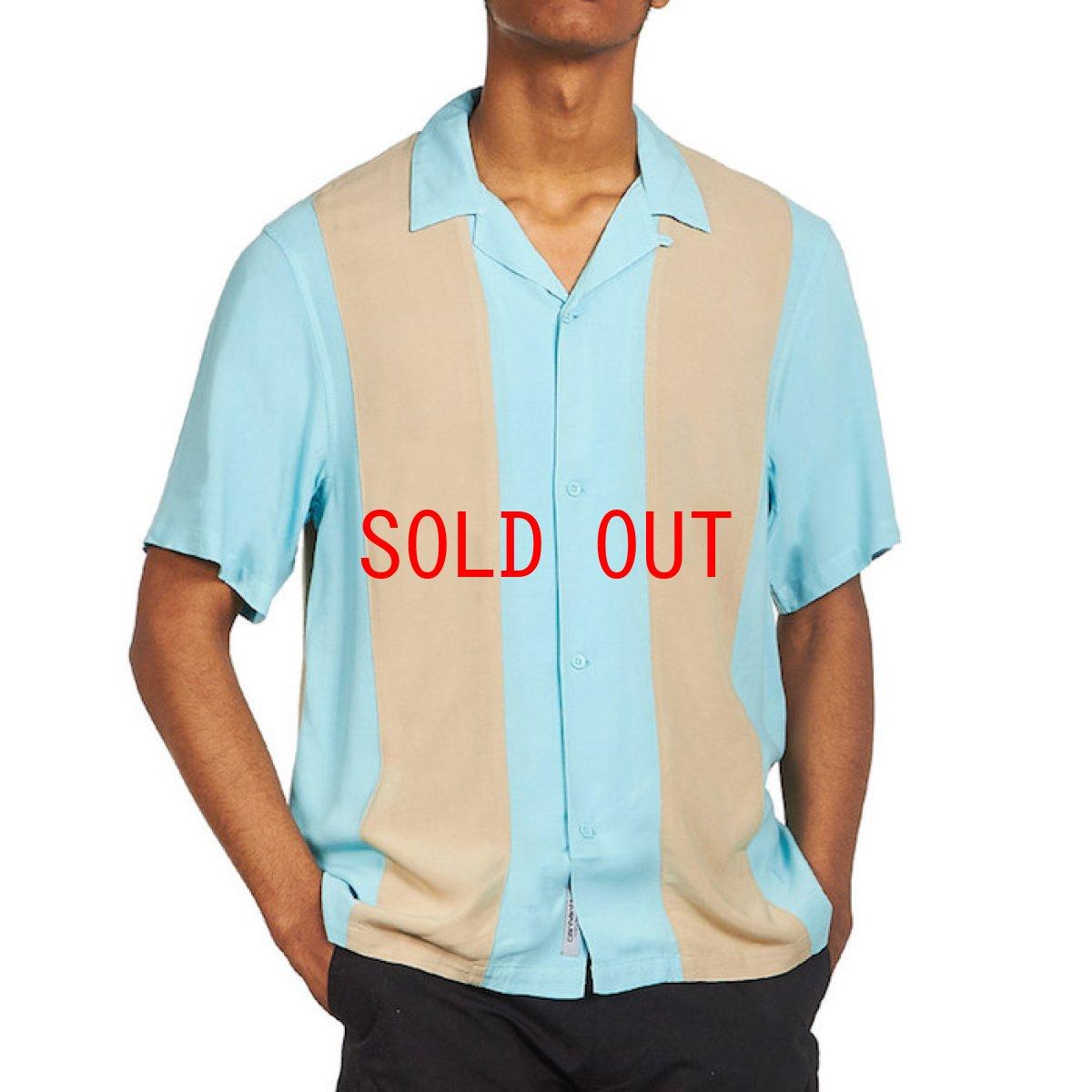 画像1: Carhartt WIP (カーハート ワークインプログレス) S/S Lane Shirt Window Blue Wall Black 半袖 ワーク シャツ  (1)