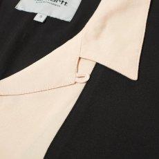 画像2: Carhartt WIP (カーハート ワークインプログレス) S/S Lane Shirt Wall Black 半袖 ワーク シャツ  (2)