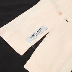 画像3: Carhartt WIP (カーハート ワークインプログレス) S/S Lane Shirt Wall Black 半袖 ワーク シャツ  (3)