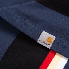 画像4: Carhartt WIP (カーハート ワークインプログレス) S/S Sunder Tee Sunder Stripe Blue 半袖 ボーダー Tシャツ  (4)