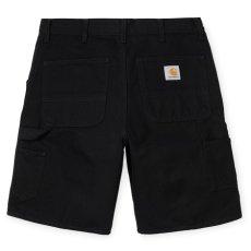 画像1: Carhartt WIP (カーハート ワークインプログレス) Single Knee Short ダック ショーツ Duck Black (1)