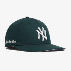 画像1: Aime Leon dore(エイメ レオン ドレ) × New Era (ニューエラ) LP 59Fifty Cap NewYork Yankees  Dark Green White ニューヨーク ヤンキース Kith ネイビー ホワイト (1)