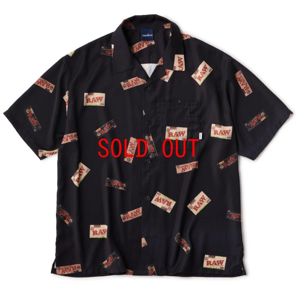 画像1: Interbreed(インターブリード) × RAW S/S Package Textile Shirts Black 半袖 柄シャツ 予約商品 (1)