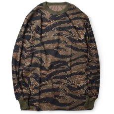 画像1: Tiger Camo L/S Tee 長袖 Tシャツ タイガー カモ 迷彩 (1)