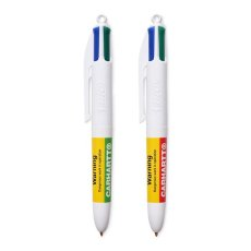 画像1: Bic Mini Four Colors Ball Pen Warning 4色 ボール ペン ビック  (1)