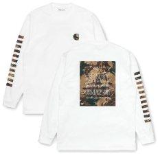 画像2: Camo Mil Tee L/S Tee カモ ミリタリー 迷彩  ロング スリーブ ルーズ フィット 長袖 Tシャツ  (2)