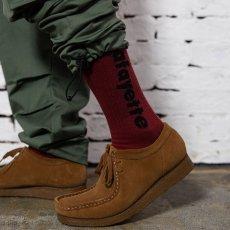 画像10: Logo Socks ソックス 靴下 Black Burgundy White (10)