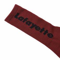 画像8: Logo Socks ソックス 靴下 Black Burgundy White (8)