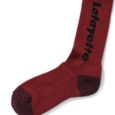 画像5: Logo Socks ソックス 靴下 Black Burgundy White (5)