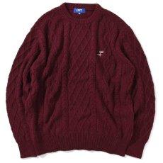 画像1: Cotton Cable Knit Sweater コットン ケーブル ニット セーター by Lafayette ラファイエット  (1)