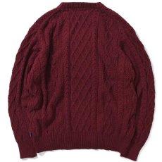 画像2: Cotton Cable Knit Sweater コットン ケーブル ニット セーター by Lafayette ラファイエット  (2)