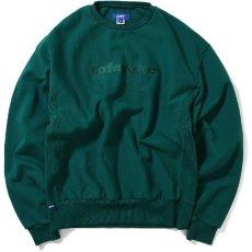 画像1: Tonal Logo US Cotton Crewneck Sweat Shirt クルーネック スウェット by Lafayette ラファイエット  (1)
