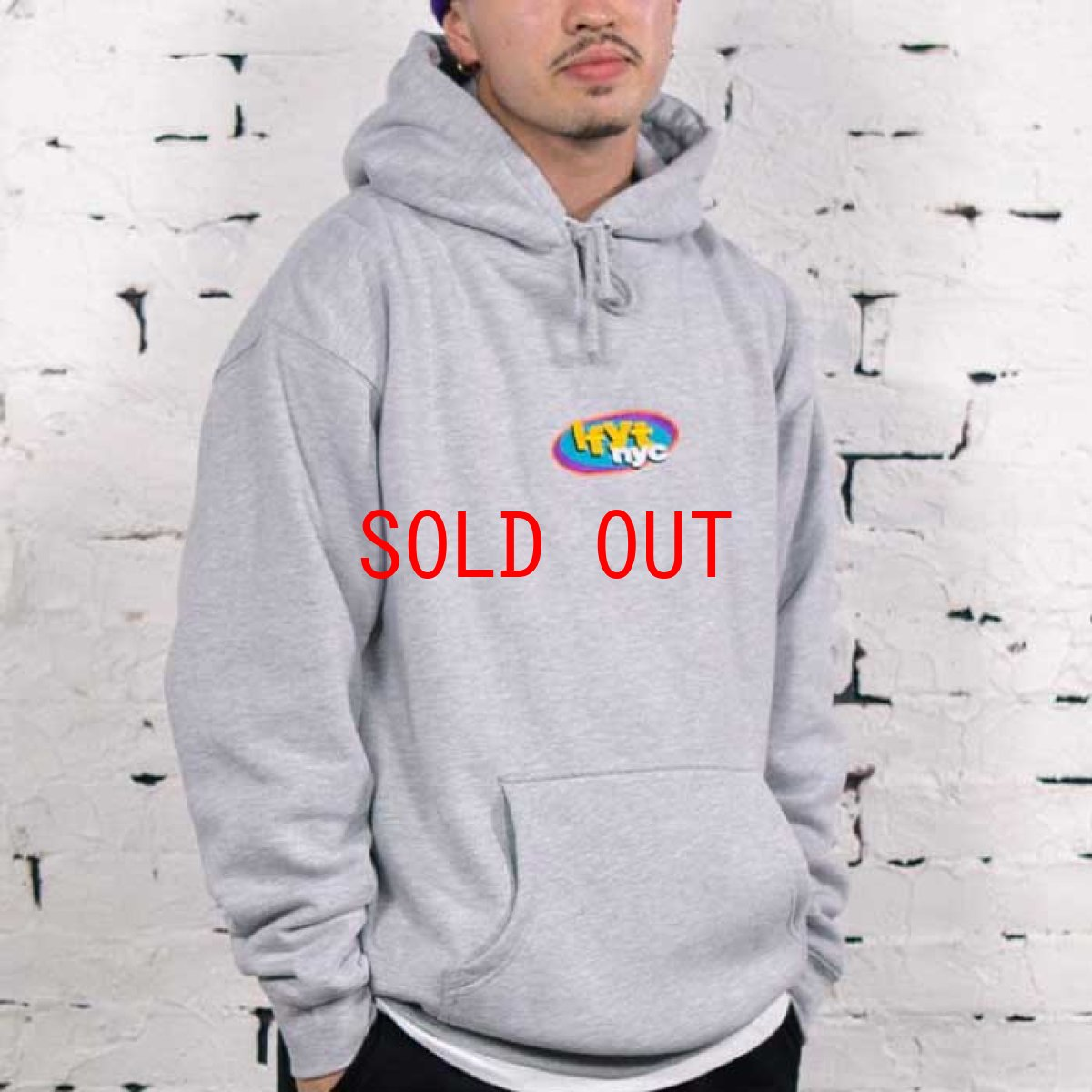 画像1: NY Radio Hooded Sweatshirt プルオーバー パーカー Heather Gray ヘザー グレー by Lafayette ラファイエット  (1)