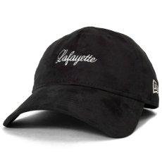 画像2: × New Era Script Logo Synthetic Suede 9thirty Cap スエード キャップ 帽子 ニューエラ by Lafayette ラファイエット  (2)