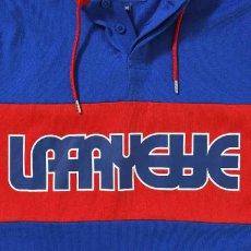 画像3: Classic Logo Hooded Rugby Jersey フード付き ラガー シャツ by Lafayette ラファイエット  (3)