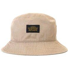 画像1: Military Label Bucket Hat ミリタリー バケット ハット キャップ 帽子 by Lafayette ラファイエット  (1)
