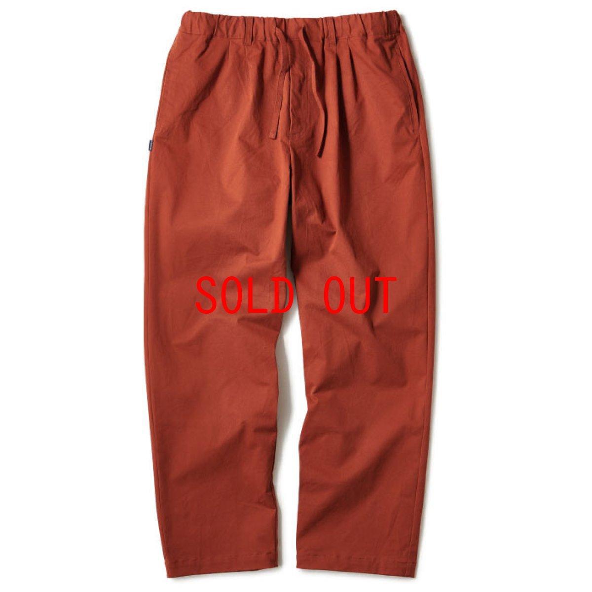 画像1: Relaxed Chino Trouser Pants チノ イージー パンツ タック パンツ Burgundy Black (1)