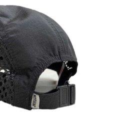 画像4: Side Mesh Nylon 5 Panel Cap Black サイド メッシュ ナイロン パネル キャンプ ジェット キャップ 帽子  (4)
