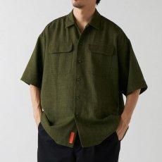 画像1: Workskin S/S Shirt Olive Green 半袖 オーバーサイズ シャツ (1)