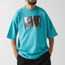 画像1: Live One S/S Tee Turquoise Blue Black White オーバーサイズ Tシャツ (1)