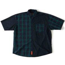 画像2: Billochek S/S Check Shirts Green Navy Black White オーバーサイズ チェック ブロード シャツ タータン チェック (2)